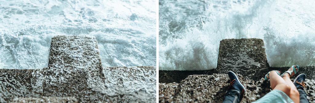sesja zdjęciowa nad morzem
