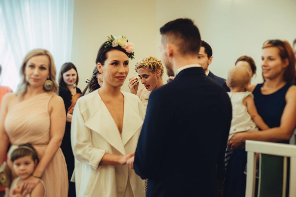 łzy podczas przysięgi ślubnej