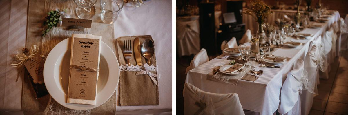 dekoracje stołów na ślubie rustykalnym