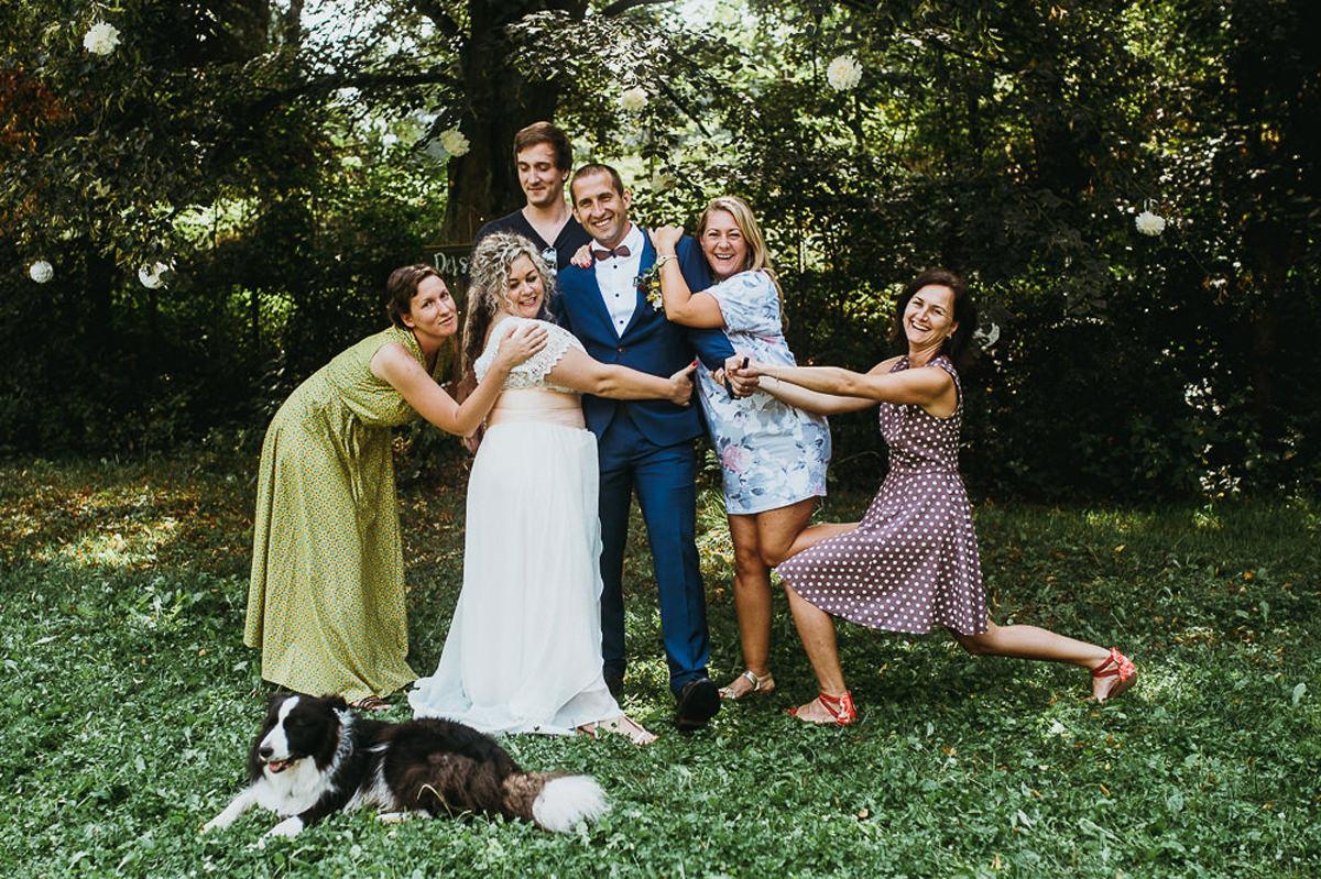 zdjęcia z rodziną na weselu