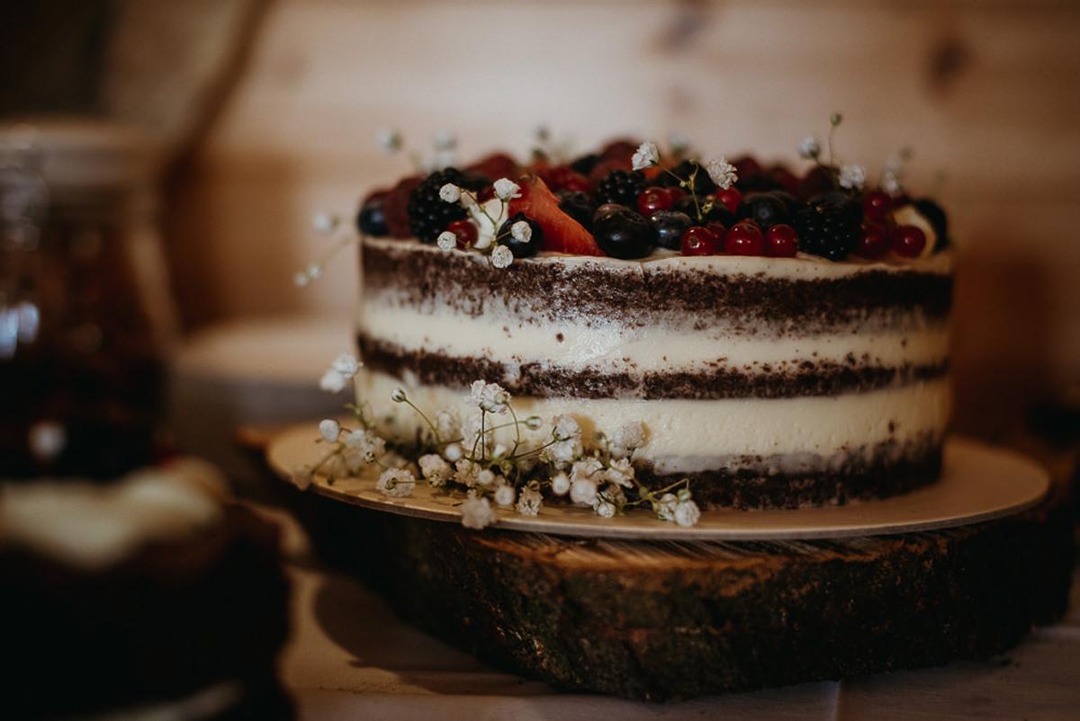 naked cake tort weselny